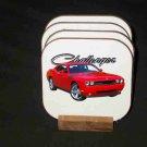 Beautiful Red 2009 Dodge Challenger RT Hard Coaster set!