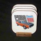Beautiful 1970 Orange Plymouth AAR Cuda Hard Coaster set!