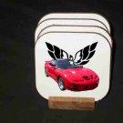 New Red 2000 Pontiac Trans AM WS6 Hard Coaster set!