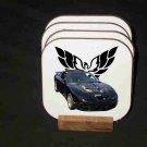 New Black 2000 Pontiac Trans AM WS6 Hard Coaster set!