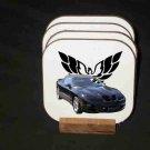 New Blue 2000 Pontiac Trans AM Convertible Hard Coaster set!