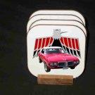 New Red 1969 Pontiac Firebird Convertible Hard Coaster set!
