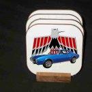New Blue 1967 Pontiac Firebird Hard Coaster set!