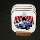 New Black 1968 Pontiac Firebird Convertible Hard Coaster set!
