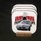 New Black 1968 Pontiac Firebird Hard Coaster set!