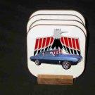 New Blue 1969 Pontiac Firebird Convertible Hard Coaster set!