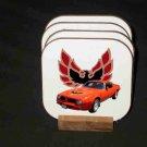 New Red/Orange 1976 Pontiac Trans AM Hard Coaster set!