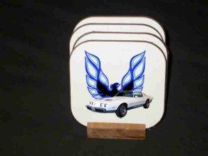New White 1979 Pontiac Formula Firebird Hard Coaster set!