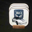 New 1999 30th Anniversary Pontiac Trans AM Convertible Hard Coaster set!