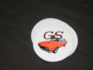 New Orange 1971 Buick Gran Sport  Soft Coaster set!!