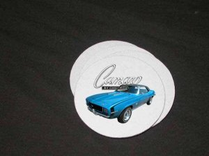 New Blue 1969 Chevy Yenko Camaro Soft Coaster set!!