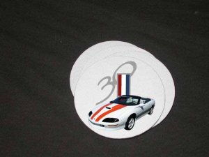 New 1997 Chevy Camaro 30th Anniversary Convertible Soft Coaster set!!