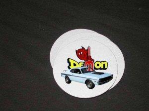 New 1972 White Dodge Demon Soft Coaster set!!