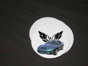 New Green 2000 Pontiac WS6 Trans AM Soft Coaster set!!