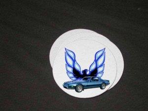 New 1980 Blue Pontiac Formula Firebird Soft Coaster set!!