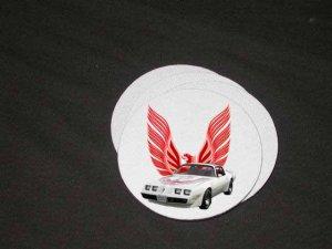 New 1981 White Pontiac Turbo Trans AM Soft Coaster set!!