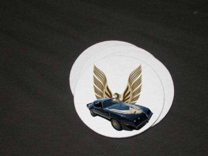 New 1981 Black Pontiac Turbo Trans AM Soft Coaster set!!