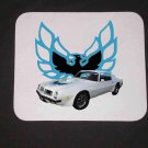 New 1975 White Pontiac Trans AM Mousepad!