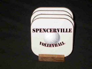 New Spencerville Volleyball Hard Coaster set!