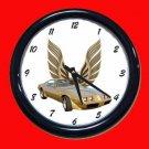 New Gold 1979 Pontiac Trans AM Wall Clock