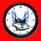 New White 1979 Pontiac Trans AM Wall Clock