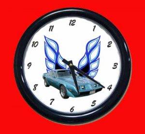 New Blue 1979 Pontiac Trans AM Wall Clock