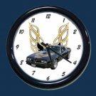 New Black 1978 Pontiac Trans AM Wall Clock
