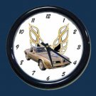 New Gold SE 1978 Pontiac Trans AM Wall Clock
