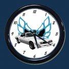 New White/Blue 1978 Pontiac Trans AM Wall Clock