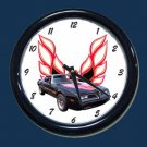 New Black/Red 1978 Pontiac Trans AM Wall Clock