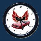 New Red 1977 Pontiac Trans AM Wall Clock