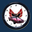 New Red 1977 Pontiac Firebird Wall Clock