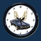 New Black 1977 Bandit Pontiac Trans AM Wall Clock