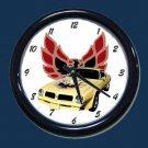 New Yellow 1976 Pontiac Trans AM Wall Clock