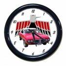 New Red 1969 Pontiac Firebird Convertible Wall Clock