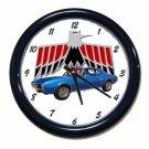 New Blue 1967 Pontiac Firebird Wall Clock