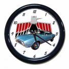 New Lt. Blue 1968 Pontiac Firebird Wall Clock