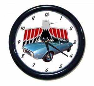 New Lt. Blue 1968 Pontiac Firebird Wall Clock