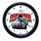 New Black 1968 Pontiac Firebird Wall Clock