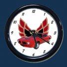 New Red 1973 Pontiac Trans AM Wall Clock