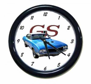 New Blue 1970 Buick Gran Sport Wall Clock