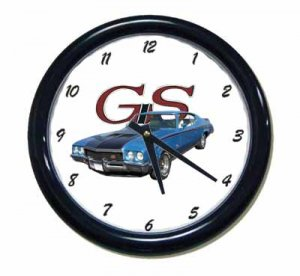New Blue 1971 Buick Gran Sport Wall Clock