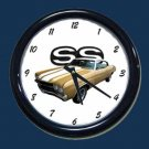 New Gold 1970 Chevy Chevelle SS Wall Clock