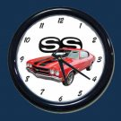 New Red 1970 Chevy Chevelle SS Wall Clock