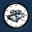 New Silver 1970 Chevy Chevelle SS Wall Clock