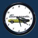 New Green 1971 Plymouth Hemi Cuda Wall Clock