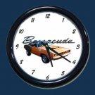 New Orange  1971 Plymouth Barracuda Wall Clock