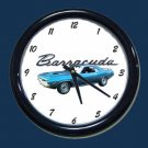 New Blue 1970 Plymouth Barracuda Wall Clock