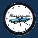 New Blue 1968 Plymouth Barracuda Wall Clock