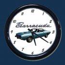 New Blue 1974 Plymouth Barracuda Wall Clock